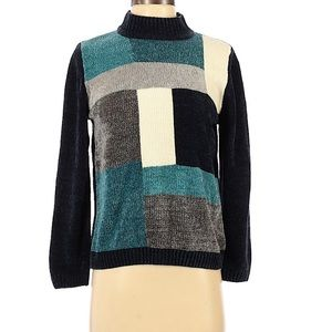 Alfred Dunner color block sweater small petite
